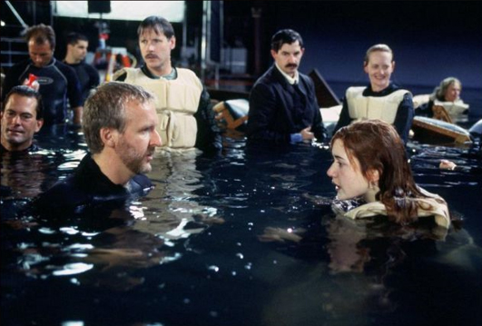 making of the Titanic Scene