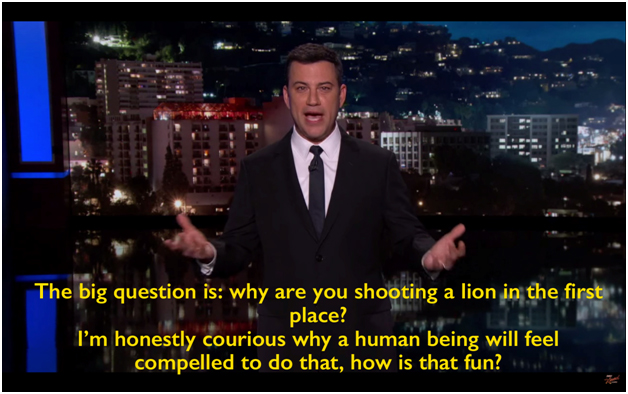 Jimmy Kimmel on Cecil The Lion