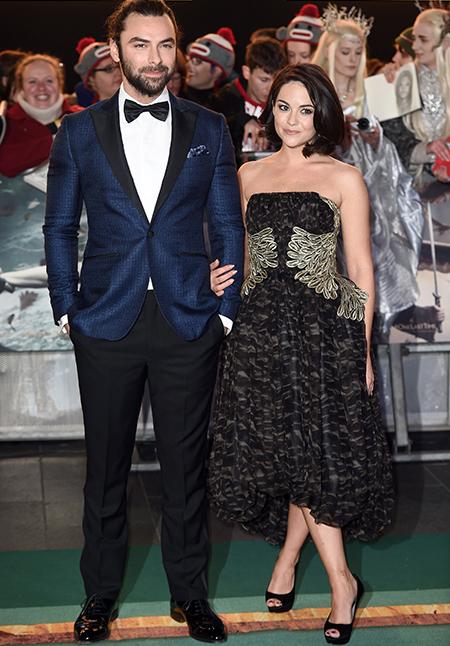 Aidan Turner with Sarah Greene
