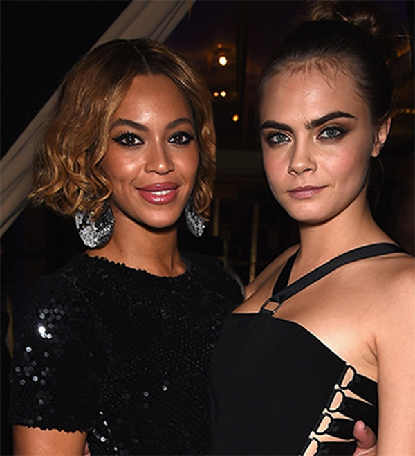 Cara Delevingne and Beyonce