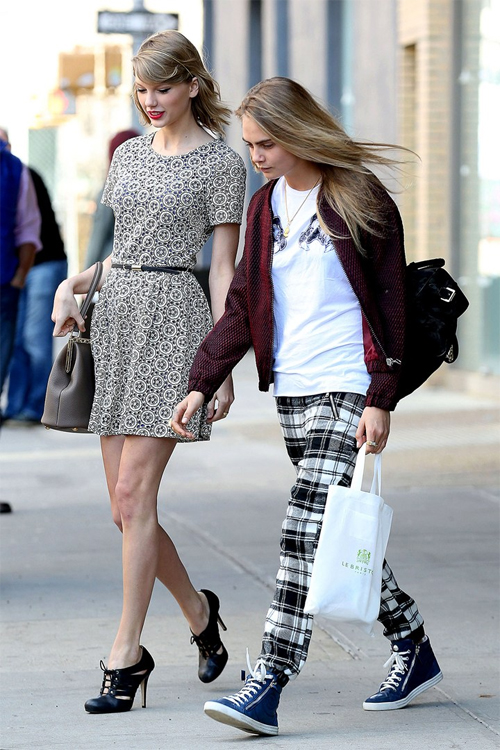 Cara Delevingne and Taylor Swift