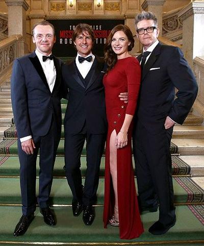 Tom Cruise Rebecca Ferguson Simon Pegg and Christopher McQuarrie