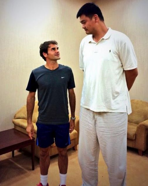 roger federer and yao ming