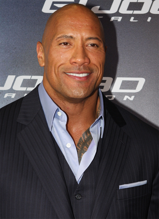 dwayne johnson measurements