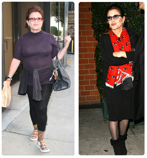 Carrie Fisher weight loss